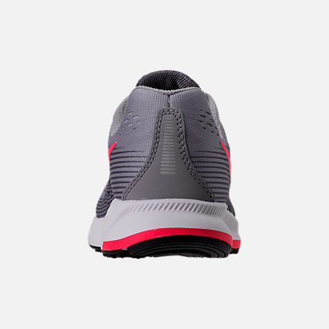 Back view of Girls' Grade School Nike Zoom Pegasus 34 Running Shoes in Provence Purple/Solar Red