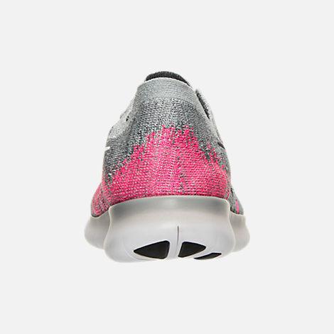 4053b564eaf5 Back view of Girls  Big Kids  Nike Free RN Flyknit 2017 Running Shoes