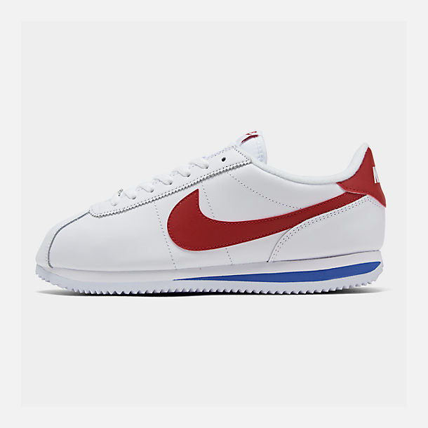 87fab2cacdfa Right view of Men s Nike Cortez Basic Leather OG Casual Shoes in  White Varsity Red