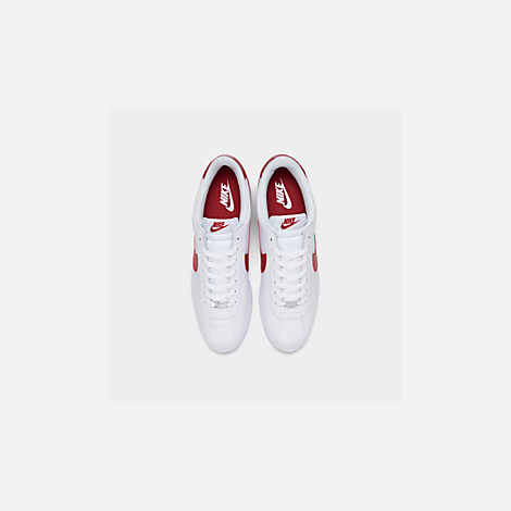 2b99cfcb180c0b Back view of Men s Nike Cortez Basic Leather OG Casual Shoes in White Varsity  Red