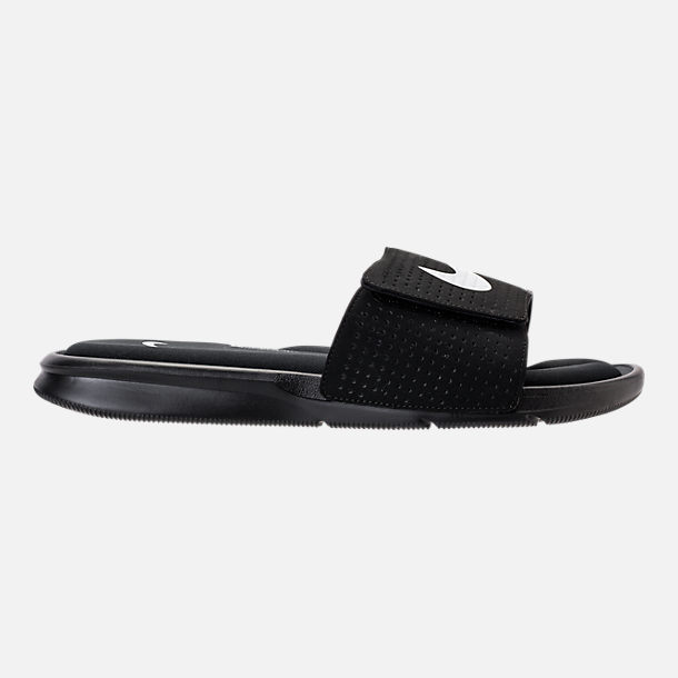 Right view of Men's Nike Ultra Comfort Slide Sandals in Black/White/Black