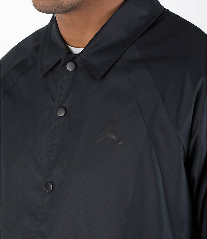Detail 1 view of Men's Air Jordan Coaches Jacket in Black