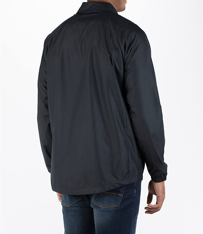 Back Right view of Men's Air Jordan Coaches Jacket in Black