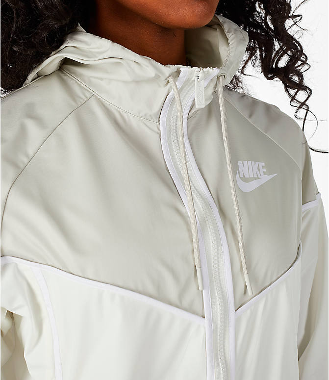 Detail 2 view of Women's Nike Sportswear Woven Windrunner Jacket in Sail/Light Bone