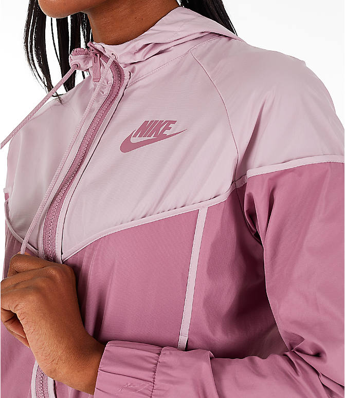 Detail 2 view of Women's Nike Sportswear Woven Windrunner Jacket in Plum Dust/Plum Chalk