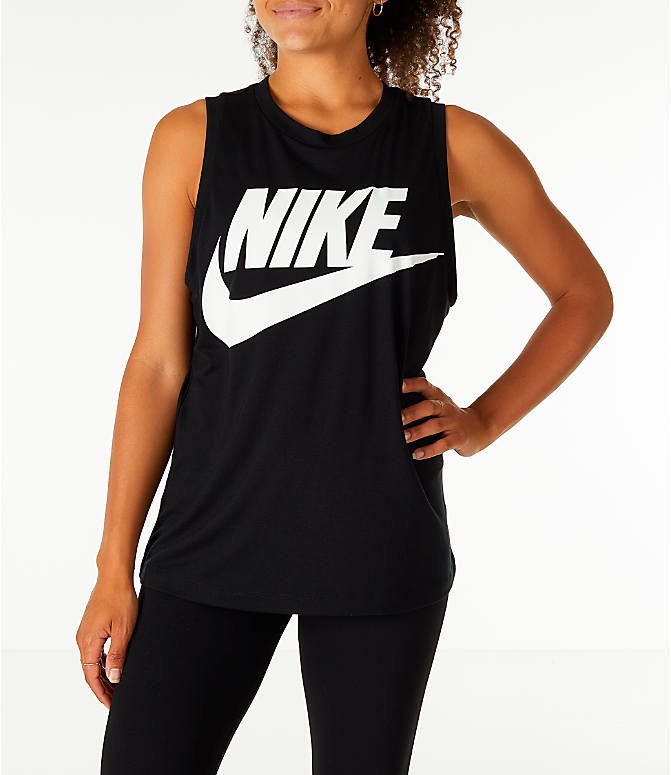 Front view of Women's Nike Sportswear Essential Muscle Tank