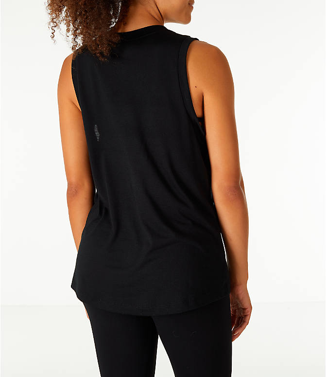 Back Right view of Women's Nike Sportswear Essential Muscle Tank