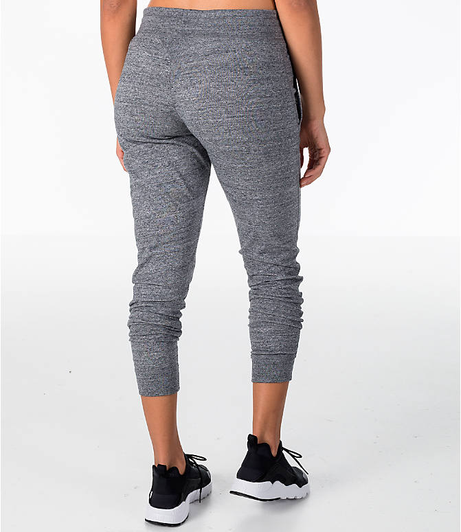 Back Right view of Women s Nike Sportswear Gym Vintage Jogger Pants in  Carbon Heather Sail 86990034d