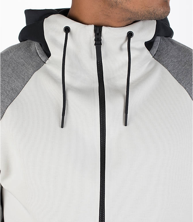 Detail 1 view of Men's Nike Sportswear Tech Fleece Color-Block Hoodie in Light Bone