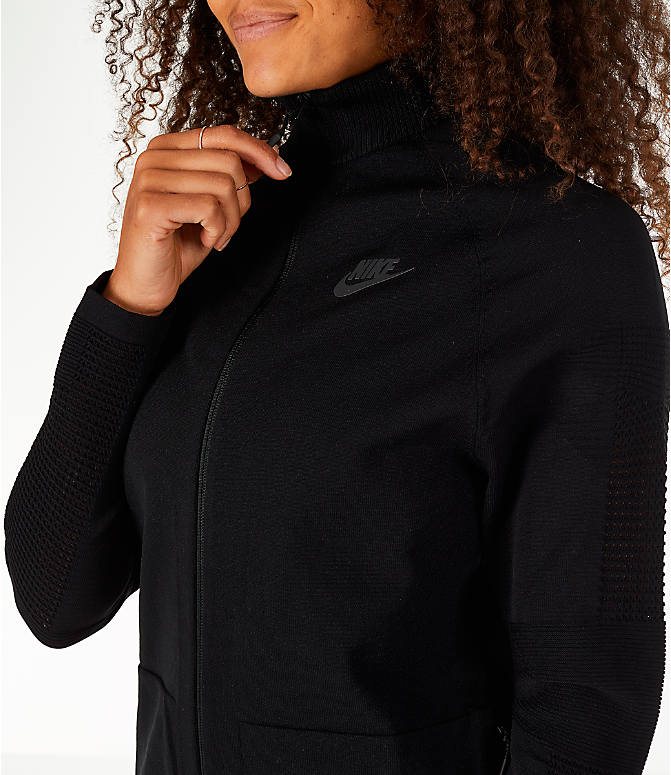 Detail 2 view of Women's Nike Sportswear Tech Knit Jacket in Black/Black