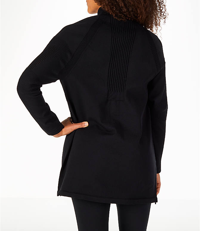 Back Left view of Women's Nike Sportswear Tech Knit Jacket in Black/Black