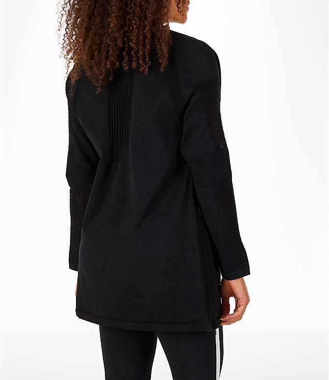 Back Right view of Women's Nike Sportswear Tech Knit Jacket in Black/Black