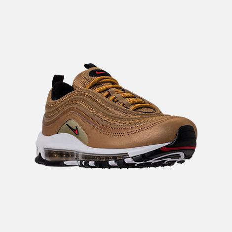 d6c370c59ffbac ... qs metallic gold varsity red white b196e 88d8e  order three quarter  view of womens nike air max 97 og casual shoes in metallic gold