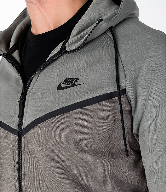 Detail 2 view of Men's Nike Sportswear Tech Fleece Full-Zip Windrunner Jacket in Stucco/Black