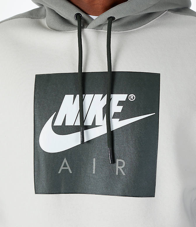 Detail 1 view of Men's Nike Sportswear Air Hoodie in Sequoia/Stucco
