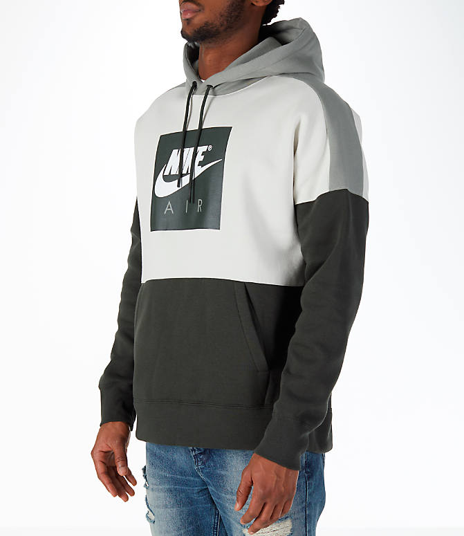 Front Three Quarter view of Men's Nike Sportswear Air Hoodie in Sequoia/Stucco