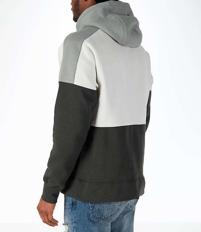 Back Left view of Men's Nike Sportswear Air Hoodie in Sequoia/Stucco