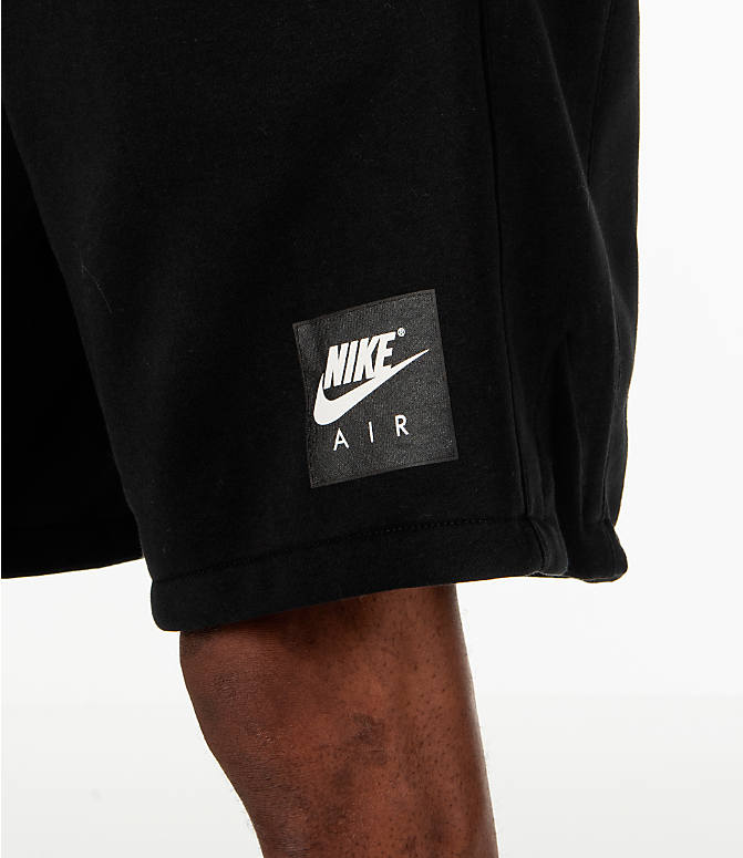 Detail 1 view of Men's Nike Sportswear Air Fleece Shorts in Black/White