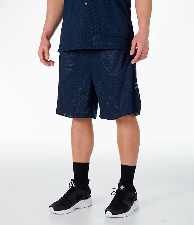 Front view of Men's Nike Sportswear Air Knit Shorts in Obsidian/Gunsmoke
