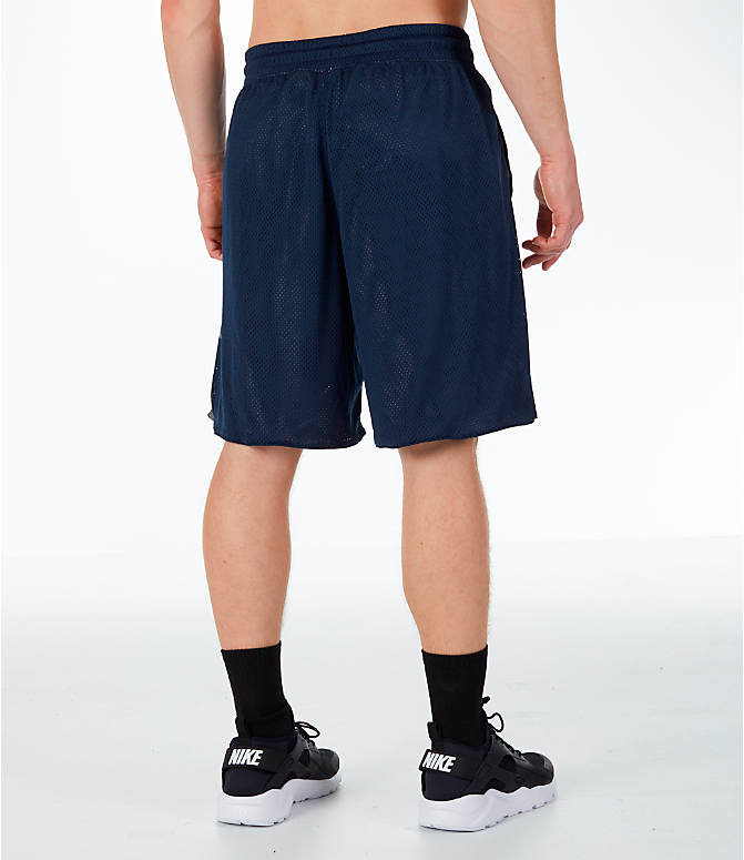Back Right view of Men's Nike Sportswear Air Knit Shorts in Obsidian/Gunsmoke