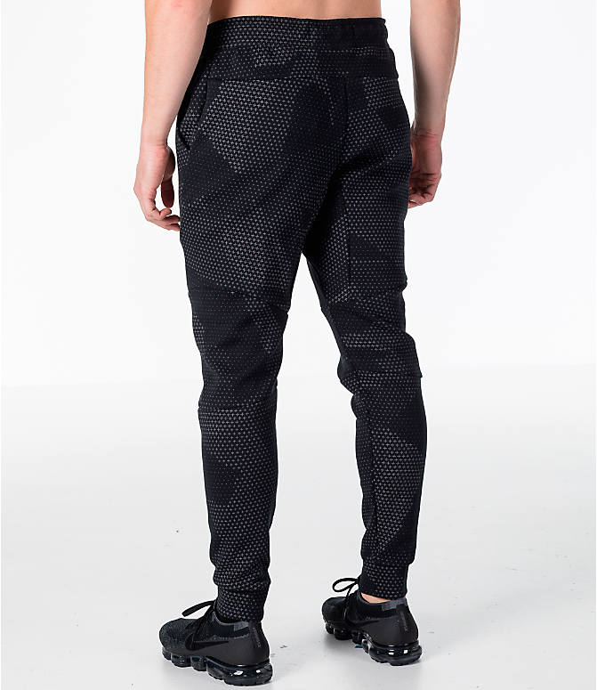 Back Left view of Men's Nike Sportswear Tech Fleece GX Jogger Pants in Black