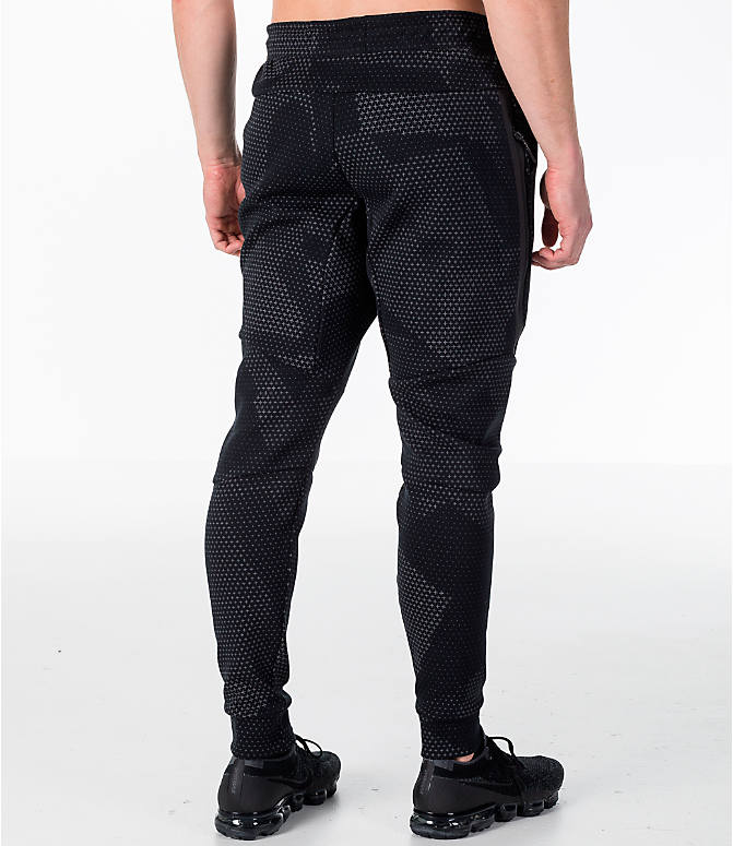 Back Right view of Men's Nike Sportswear Tech Fleece GX Jogger Pants in Black
