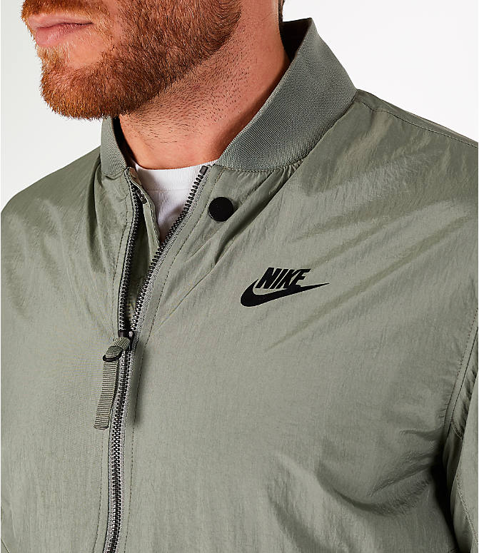 Detail 1 view of Men's Nike Sportswear Franchise Varsity Jacket in Dark Stucco/Black