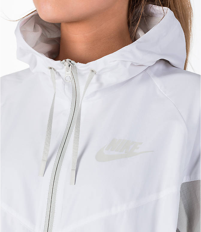 Detail 1 view of Women's Nike Sportswear Novelty Windrunner Jacket in White/Light Bone