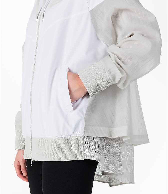 Detail 2 view of Women's Nike Sportswear Novelty Windrunner Jacket in White/Light Bone