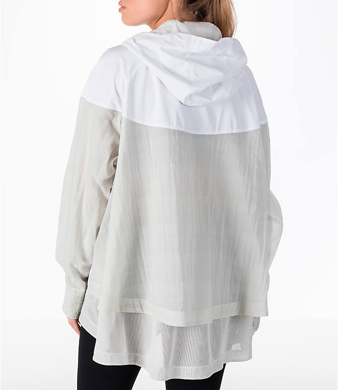 Front view of Women's Nike Sportswear Novelty Windrunner Jacket in White/Light Bone