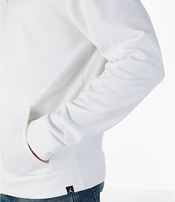 Detail 1 view of Men's Air Jordan Therma Rise Full-Zip Basketball Hoodie in White