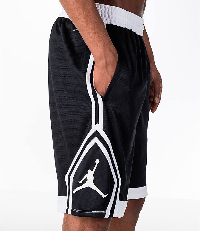 Detail 2 view of Men's Air Jordan Rise Diamond Basketball Shorts in Black/White