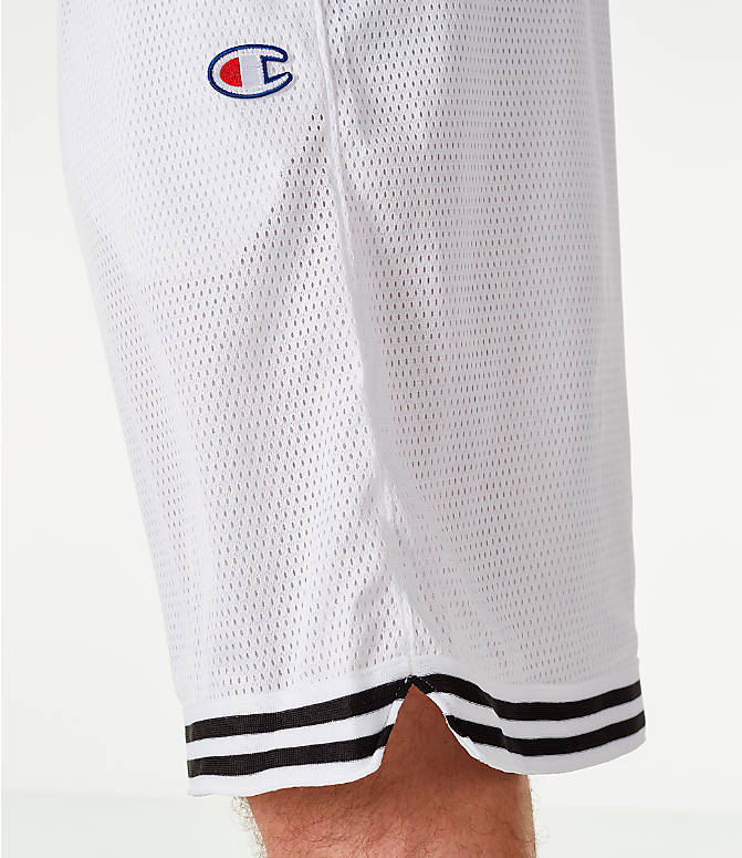 Detail 2 view of Men's Champion Life Basketball Shorts in White/Black