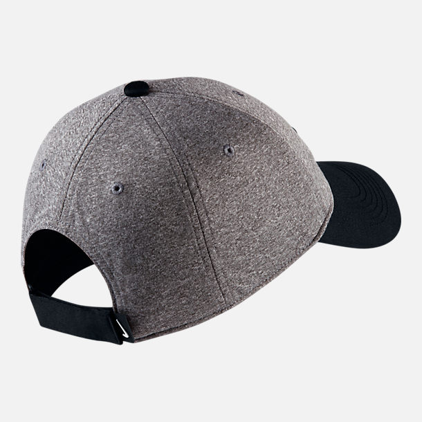 Back view of Unisex Nike AeroBill Heritage86 Legend Adjustable Hat in Black/Grey