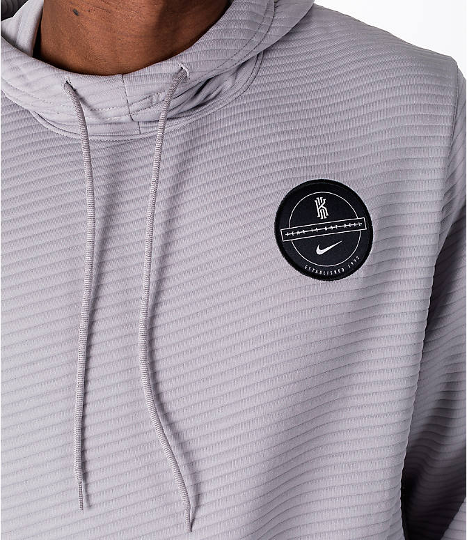 Detail 1 view of Men's Nike Dry Kyrie Hoodie in Grey