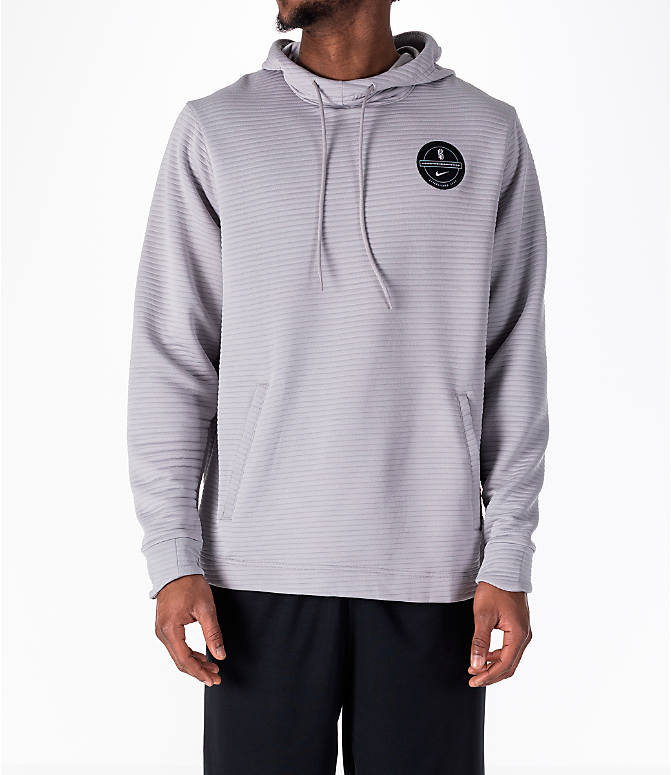 Front view of Men's Nike Dry Kyrie Hoodie in Grey