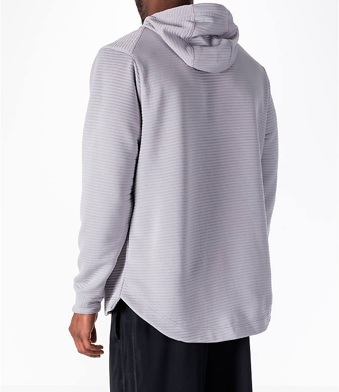 Back Left view of Men's Nike Dry Kyrie Hoodie in Grey