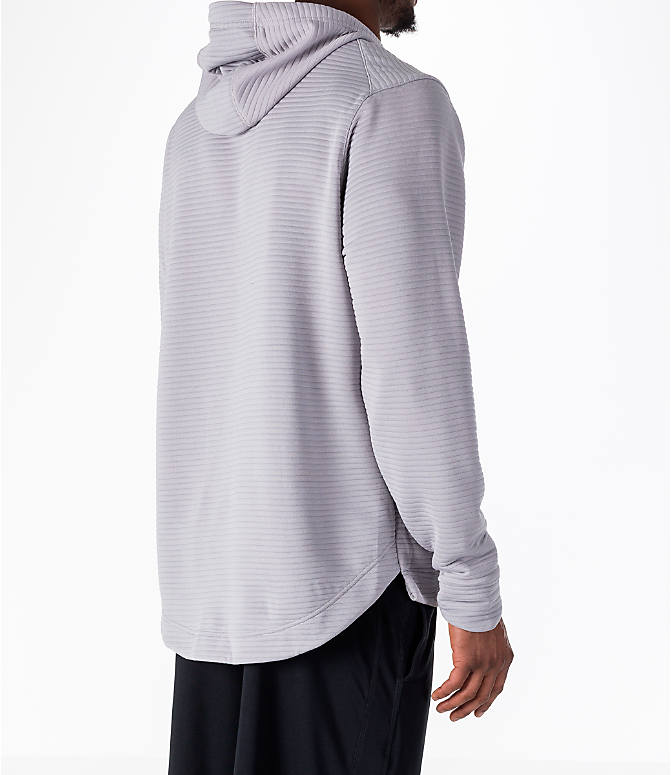 Back Right view of Men's Nike Dry Kyrie Hoodie in Grey