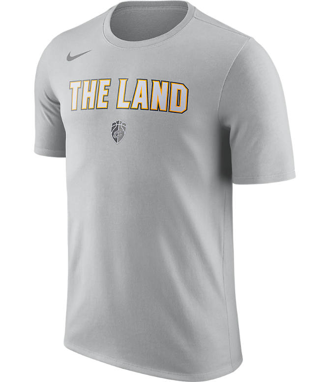 Front view of Men's Nike Cleveland Cavaliers NBA Dry City T-Shirt in Silver
