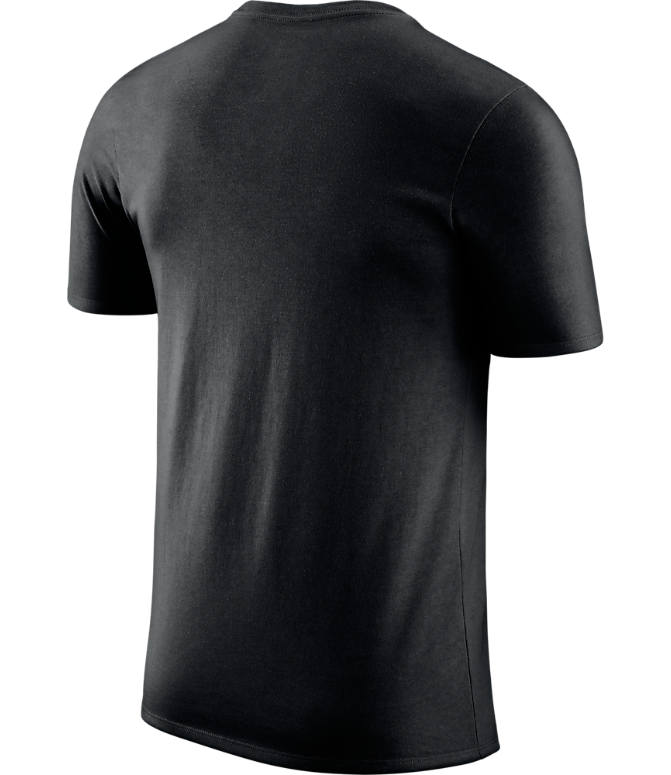 Back view of Men's Nike Dallas Mavericks NBA Dry City T-Shirt in Black