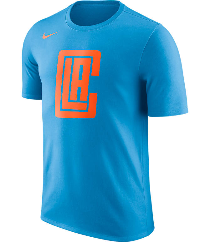 Front view of Men's Nike Los Angeles Clippers NBA Dry City T-Shirt in Coastal Blue