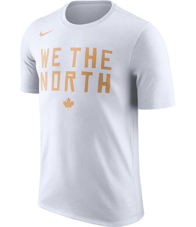 Front view of Men's Nike Toronto Raptors NBA Dry City T-Shirt in White