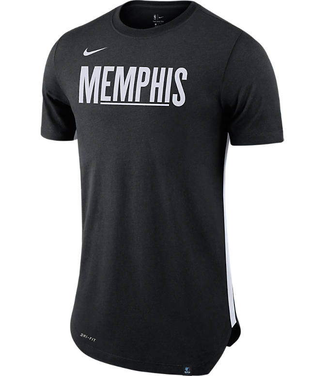 Front view of Men's Nike Memphis Grizzlies NBA Alt Hem T-Shirt in Black