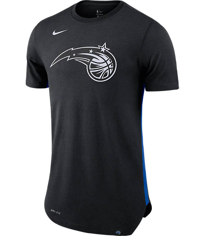 Front view of Men's Nike Orlando Magic NBA Alt Hem T-Shirt in Black