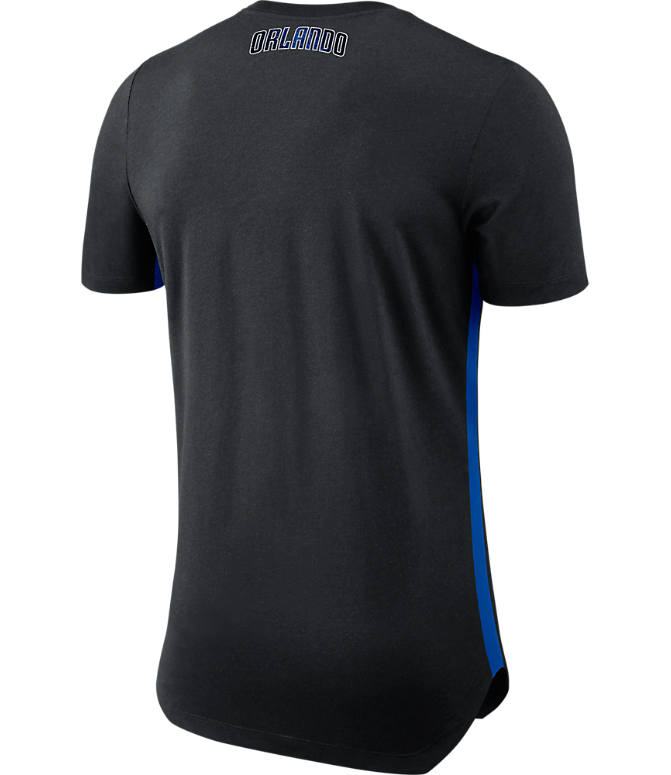 Back view of Men's Nike Orlando Magic NBA Alt Hem T-Shirt in Black