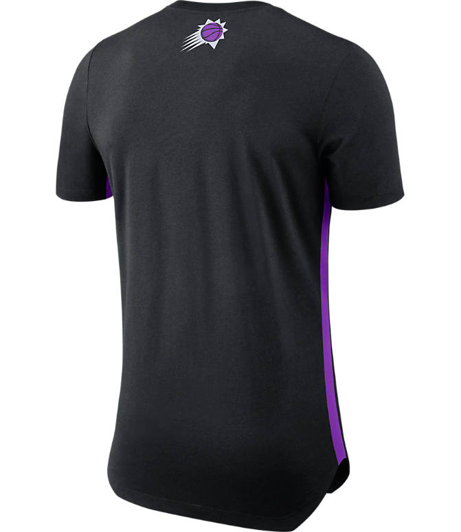 Back view of Men's Nike Phoenix Suns NBA Alt Hem T-Shirt in Black