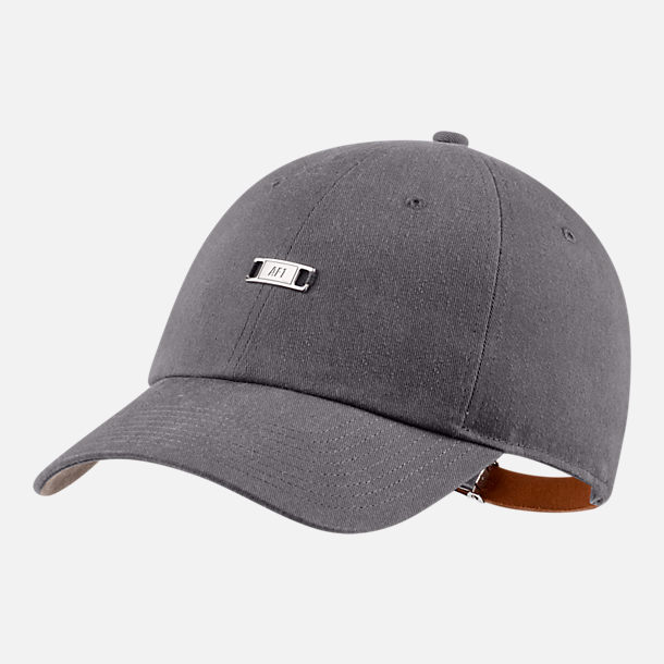 Front view of Unisex Nike Sportswear Heritage86 Air Force 1 Adjustable Hat in Gunsmoke