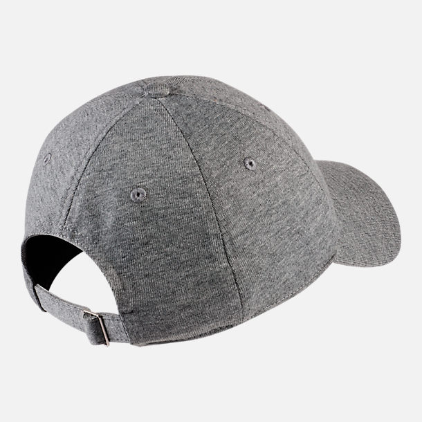 Back view of Nike Sportswear H86 Washed Futura Metal Adjustable Back Hat in Dark Grey Heather/Black/Silver