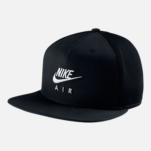 Front view of Unisex Nike Sportswear Pro Snapback Hat in Black/White
