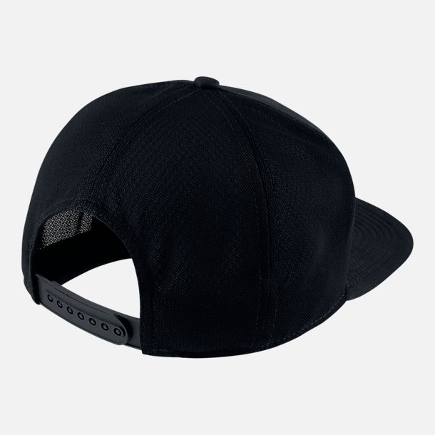 Back view of Unisex Nike Sportswear Pro Snapback Hat in Black/White